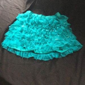 Lil girls small 5/6 ruffle skirt